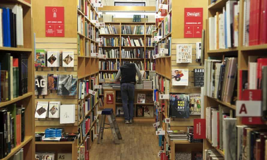 Interior view of the Strand Bookstore in Greenwich Village, Manhattan, New York City, US.