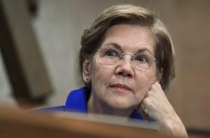 Elizabeth Warren during a Senate banking hearing in 2017.