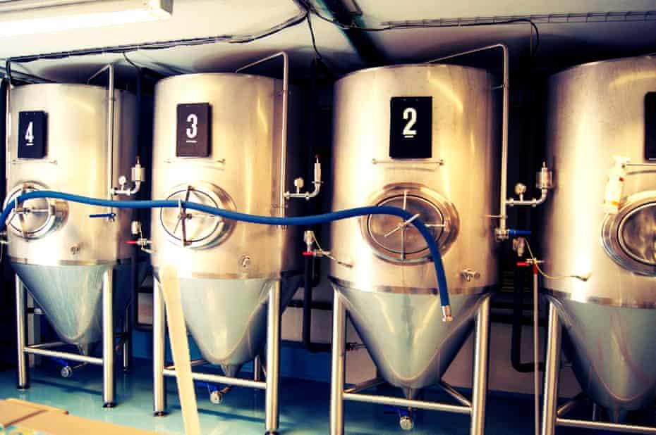 Tanks for rainwater beer