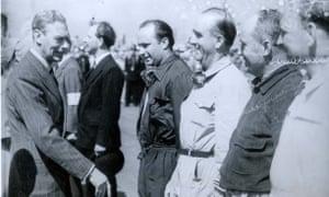King George VI meets Juan Manuel Fangio.