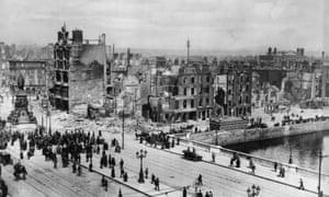 Easter rising: Dublin devastation