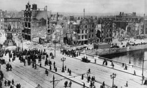 Dublin's Sackville Street after the Easter Rising