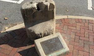 The slave block in Fredericksburg, Virginia.