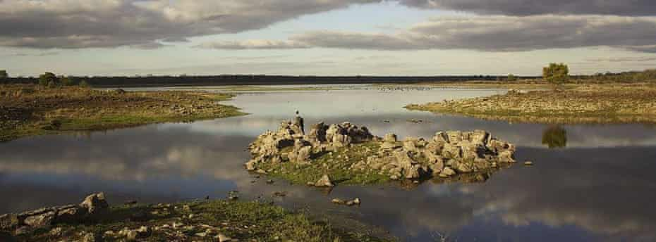 Traps were built by the Gunditjmara people to manage eels in Lake Condah in the Budj Bim hational heritage landscape.