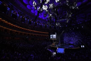 A general view of the Royal Albert Hall during the In Memoriam segement