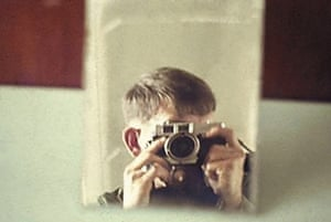 Richard Lynghoug - playing with his new Petri 500, 35mm camera, Northern I-Corp, 1969