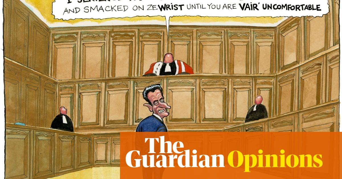 Steve Bell on French ex-president Nicolas Sarkozy's corruption conviction – cartoon