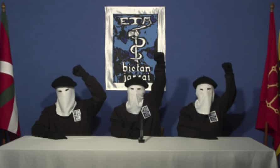 Video image of masked members of ETA.