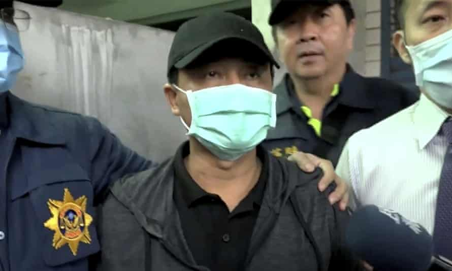 Lee Yi-hsiang, the driver of the truck in Taiwan that was hit by a train on Friday, offers a public apology on Sunday.