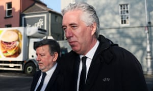 FAI attend Sport Committee<br>FAI executive vice-president John Delaney (right) and FAI president Donal Conway arrive at Leinster House, Dublin, as representatives of the Football Association of Ireland are to give evidence to the Joint Committee on Transport, Tourism and Sport. PRESS ASSOCIATION Photo. Picture date: Wednesday April 10, 2019. See PA story IRISH FAI. Photo credit should read: Brian Lawless/PA Wire