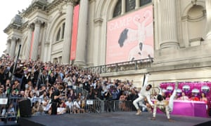 Dancers compete during Battle Of The Legends: Vogueing At The Met, outside the Metropolitan Museum of Art, June, 2019 in New York City.