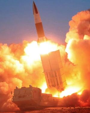 North Korean missile fires