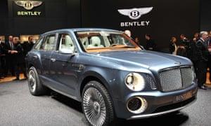 A Bentley car at a car show