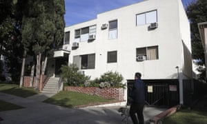 The building housing the apartment of Ed Buck in West Hollywood. The prominent LGBTQ political activist was arrested Tuesday, 17 September 2019.