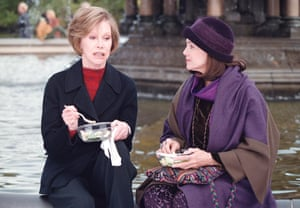 Filming scenes from the TV movie Mary & Rhoda with Valerie Harper