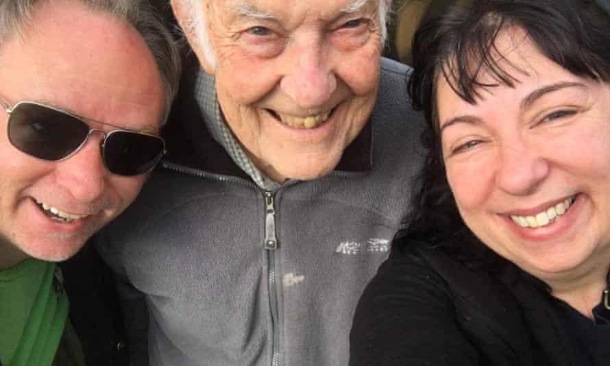 John Jobber (centre) with his son, Greg Jobber, and daughter, Samantha John