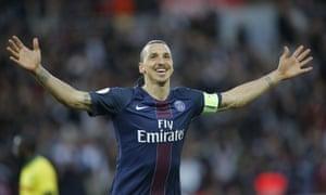 Zlatan Ibrahimovic scored 38 goals when PSG won Ligue 1 in 2015-16.