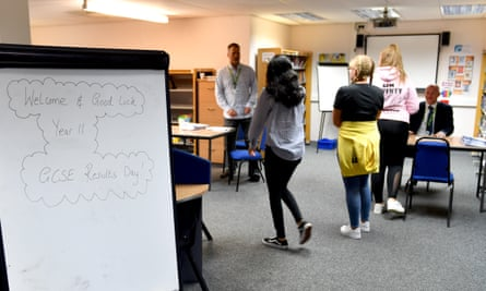 Pupils receive their GCSE results at Copley Academy in Stalybridge, on 20 August 2020.