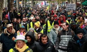 Gilets jaunes protesters in Paris mark the one-year anniversary of the movement
