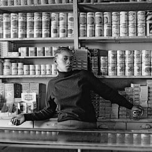Shop assistant, Orlando West, Soweto 1972.