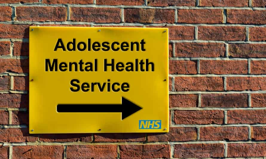 A sign for an NHS Adolescent Mental Health Service