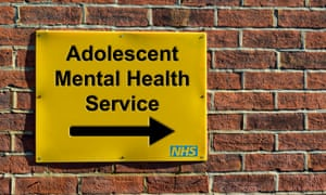 Adolescent Mental Health Service, NHS wall mounted direction sign