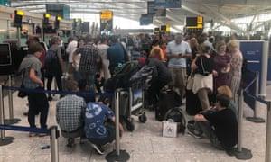 Terminal 5 check in queue