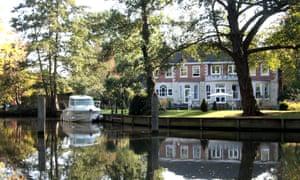 Weybridge house and reflection