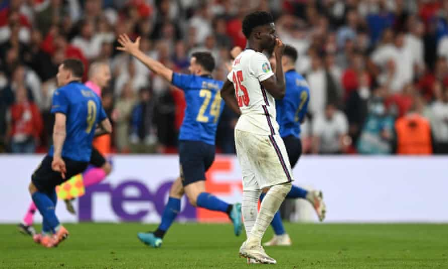 Bukayo Saka was one of the England players targeted for racist abuse on social media after the Euro 2020 final.