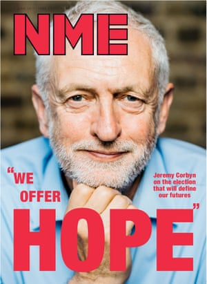 Jeremy Corbyn on last week's cover of the NME.