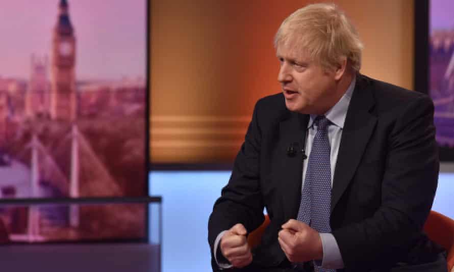 Boris Johnson in The Andrew Marr Show studio