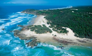 An aerial view of North Stradbroke island