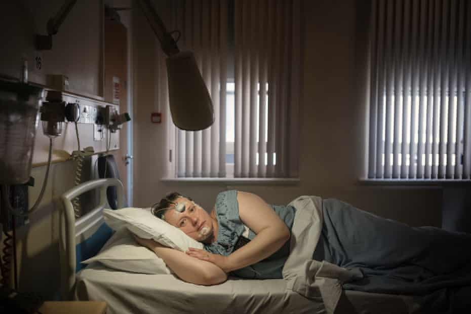 A patient at the sleep clinic.