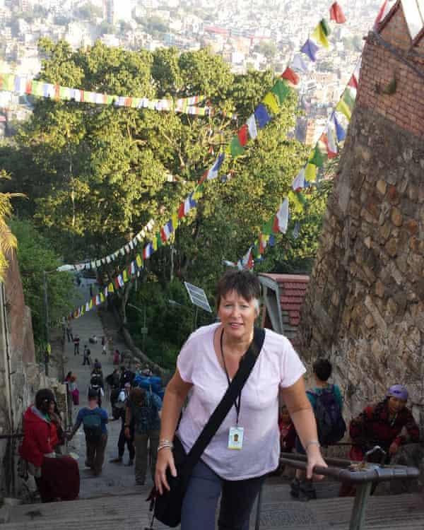 Judith Phillips in Kathmandu, Nepal, where she taught children on the set of Doctor Strange.