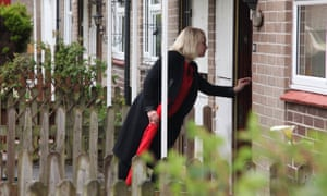 Labour's Charlotte Holloway on the doorstep in Plymouth
