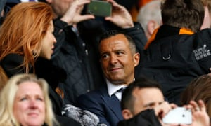 Jorge Mendes at Molineux where he has been described as 'a close friend and an adviser' to the Wolves chairman, Jeff Shi.
