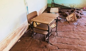 A classroom in Paracatu three years after the iron ore mine tailings dam collapse.