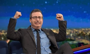 John Oliver - seen here on the The Late Show with Stephen Colbert - has annoyed some in the media business