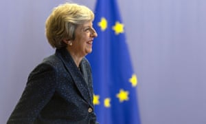 Prime minister Theresa May at the EU summit in Brussels last week.