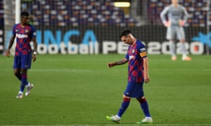 Lionel Messi trudges off the pitch after the draw.