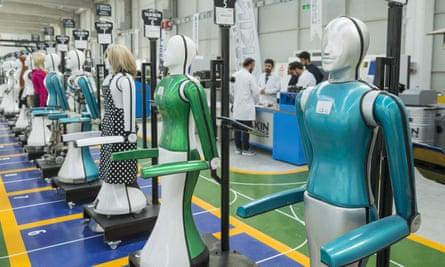 An inside view of AkinRobotics, Turkey's first factory producing human-like robots.