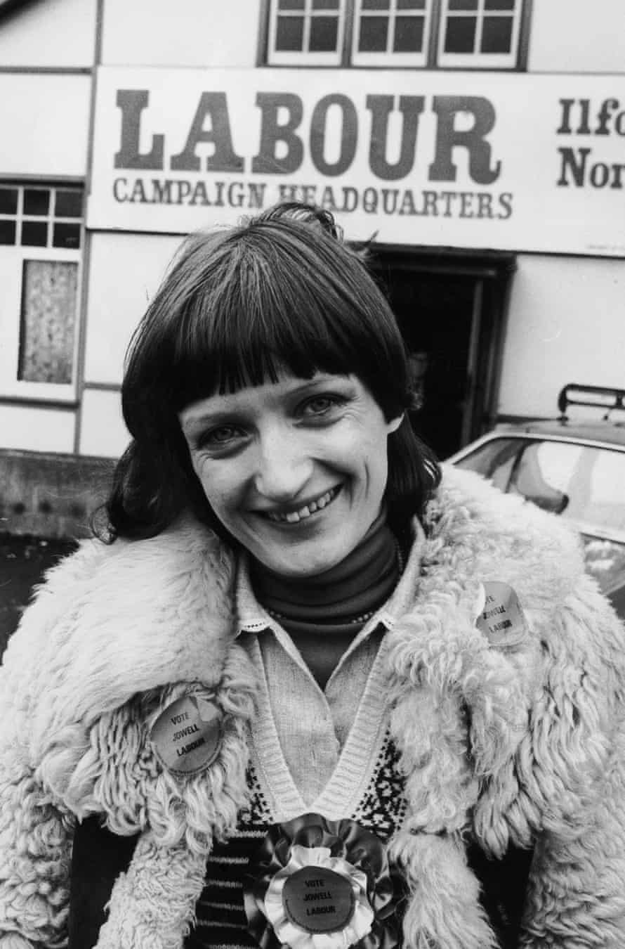 Early days: Tessa Jowell campaigns for Ilford North, February 1978.