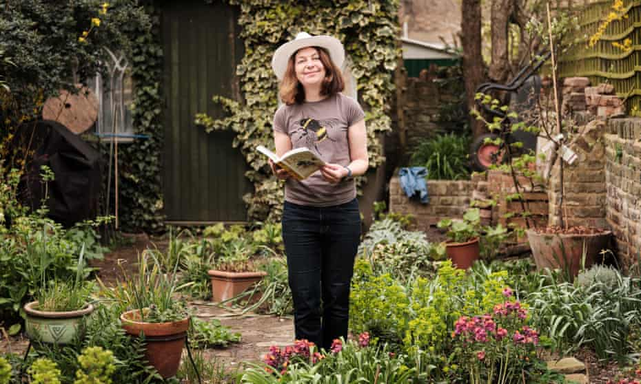Getting a buzz out of it: author Alison Benjamin in her bee-friendly garden.