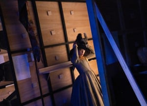 Umi Myers, who plays Helena Sadler and Dorothea Wolsey, waits in the wings