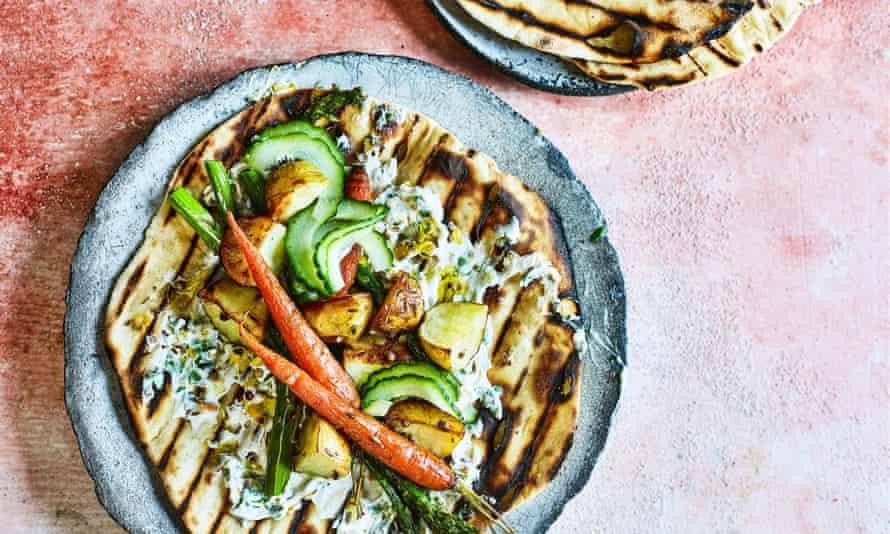 Vegetable shawarma