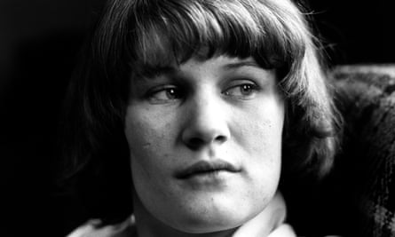 Andrea Dunbar, pictured at home on the Buttershaw estate, Bradford, in the early 80s.