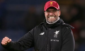 Jurgen Klopp, Manager of Liverpool celebrates victory.