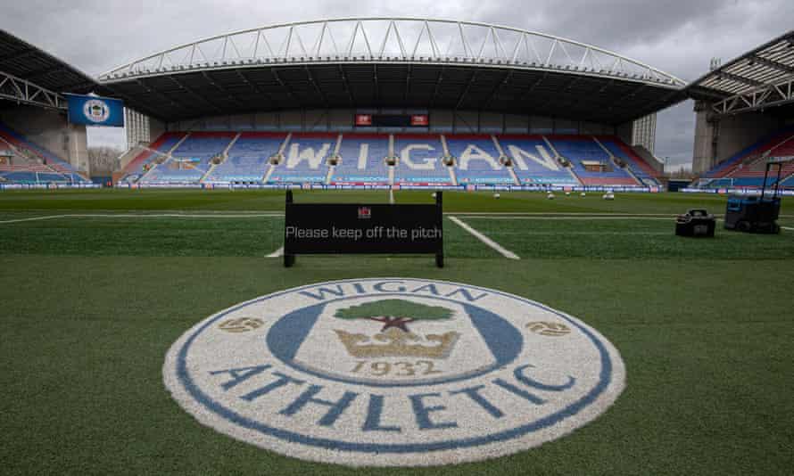 Wigan's DW Stadium, pictured in March.