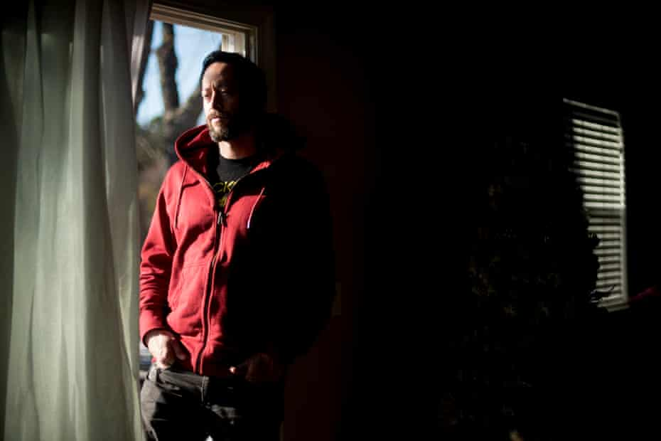 Allyn Pierce, a nurse, managed to escape the fire, but lost his home.