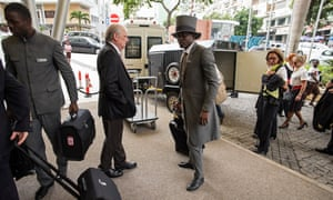 Airline staff arrive at the Epic Sana hotel